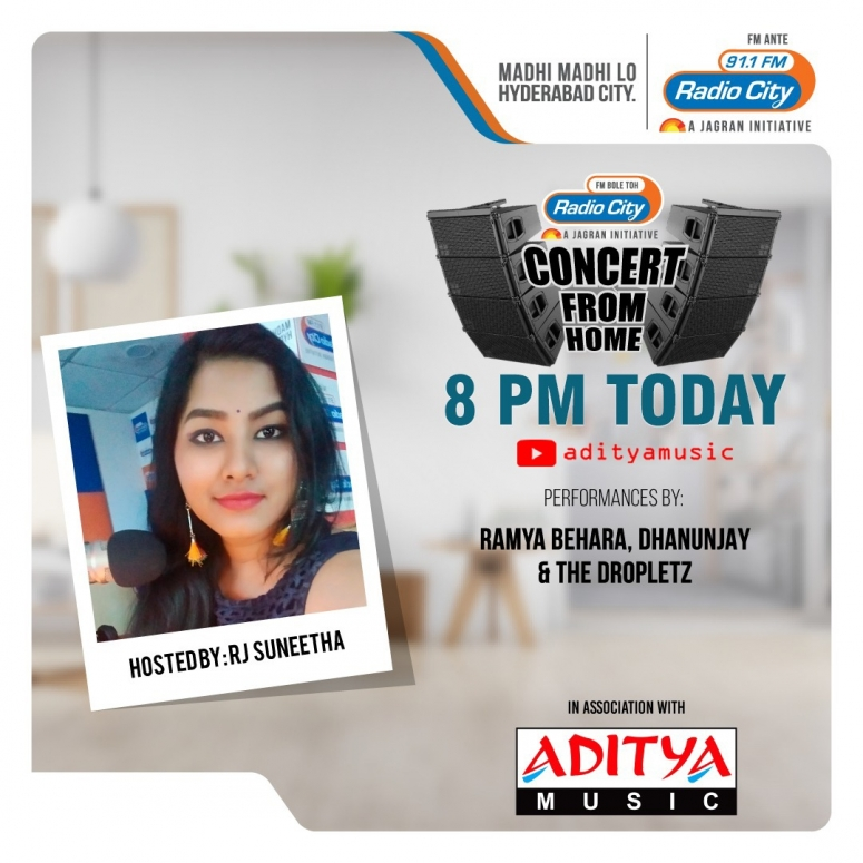 Aditya Music and Radio City's Concert From Home
